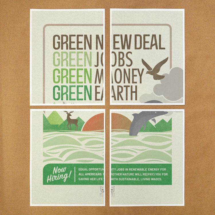 Green New Deal Download & Print-at-Home Protest Posters 1