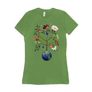 Green New Deal Women's T-Shirt by Brooke Fischer Leaf / Small (S) T-Shirt Green New Deal