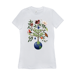 Green New Deal Women's T-Shirt by Brooke Fischer White / Small (S) T-Shirt Green New Deal