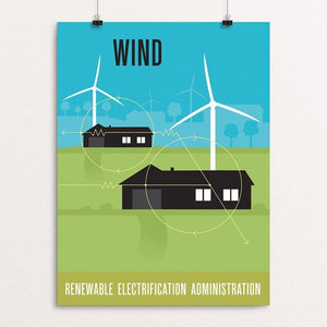 "Green Patriot Wind by Eric Benson 12"" by 16"" Print / Unframed Print Green Patriot Posters"