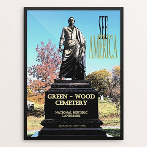 "Green-Wood Cemetery National Historic Landmark by John Lincoln Hallowell 12"" by 16"" Print / Framed Print See America"