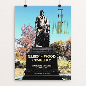 "Green-Wood Cemetery National Historic Landmark by John Lincoln Hallowell 12"" by 16"" Print / Unframed Print See America"