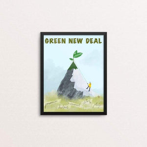 "Greta Leads the Way by Ruchi Mittal 8"" by 10"" Print / Framed Print Green New Deal"
