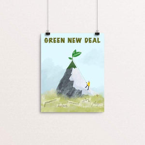 "Greta Leads the Way by Ruchi Mittal 8"" by 10"" Print / Unframed Print Green New Deal"