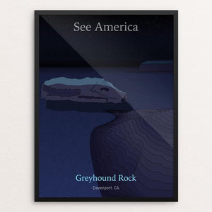 "Greyhound Rock by John Waidhofer 18"" by 24"" Print / Framed Print See America"