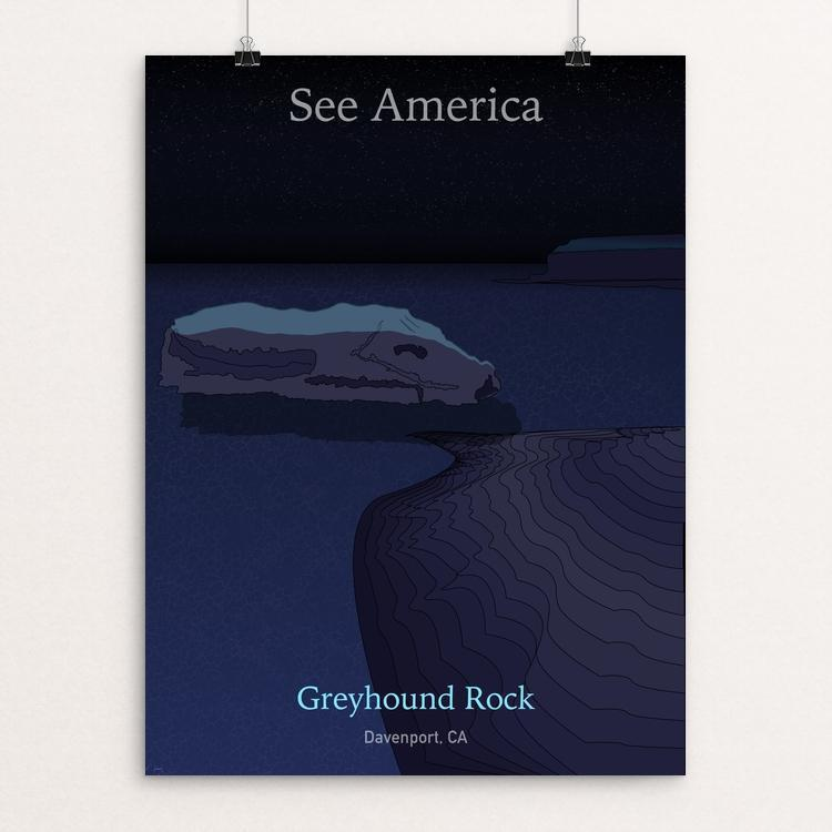 "Greyhound Rock by John Waidhofer 18"" by 24"" Print / Unframed Print See America"