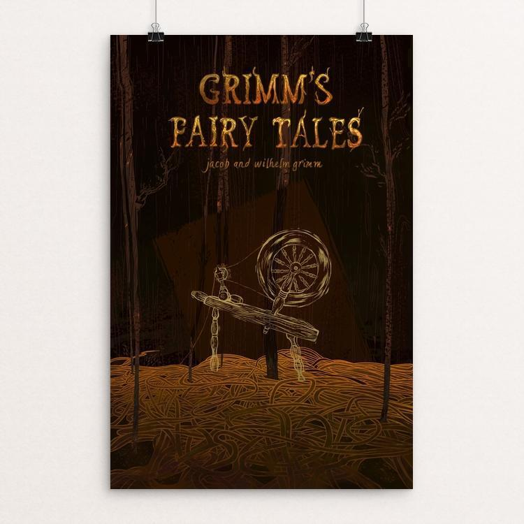 "Grimm's Fairy Tales by Alyssa Winans 12"" by 18"" Print / Unframed Print Recovering the Classics"