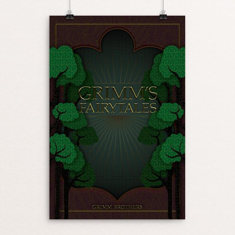 "Grimm's Fairy Tales by Crystal Hunter-Jones 12"" by 18"" Print / Unframed Print Recovering the Classics"