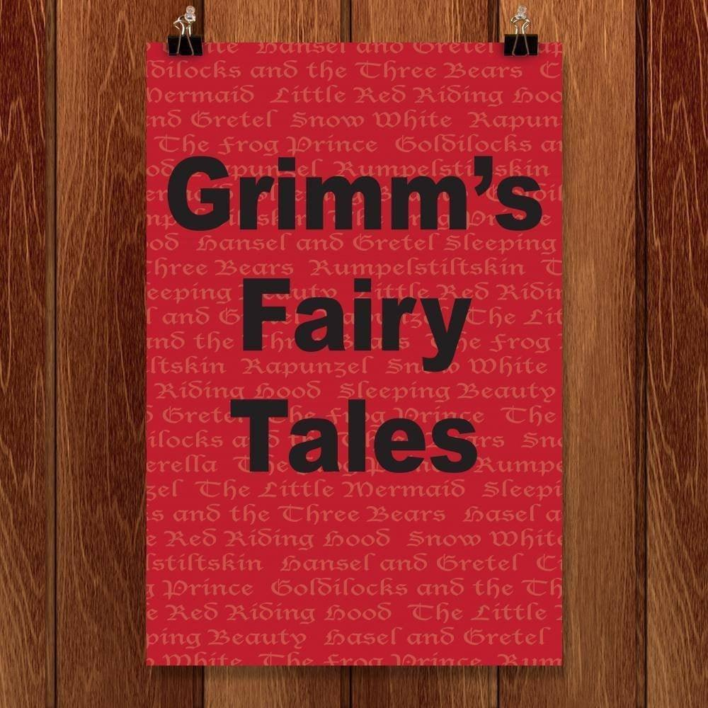 "Grimm'S Fairy Tales by Kourtney Erickson 12"" by 18"" Print / Unframed Print Recovering the Classics"