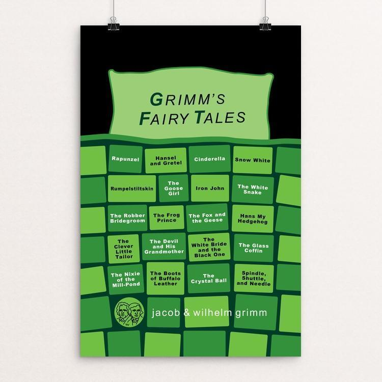 "Grimm's Fairy Tales by Robert Wallman 12"" by 18"" Print / Unframed Print Recovering the Classics"