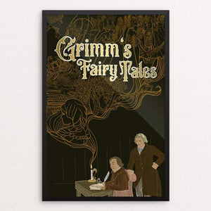 "Grimm's Fairy Tales by Tina Schofield 12"" by 18"" Print / Framed Print Recovering the Classics"