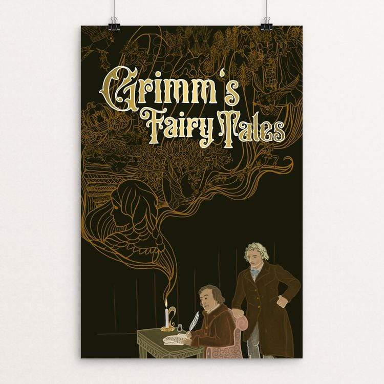 "Grimm's Fairy Tales by Tina Schofield 12"" by 18"" Print / Unframed Print Recovering the Classics"