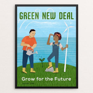 "Grow for the Future by Susanne Lamb 12"" by 16"" Print / Framed Print Green New Deal"