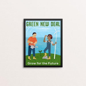 "Grow for the Future by Susanne Lamb 8"" by 10"" Print / Framed Print Green New Deal"