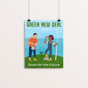 "Grow for the Future by Susanne Lamb 8"" by 10"" Print / Unframed Print Green New Deal"