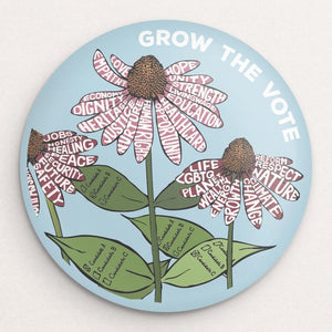 Grow The VOTE! 3 Button by Brooke Fischer
