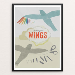 "Grow Your Wings by Liza Donovan 12"" by 16"" Print / Framed Print Creative Action Network"