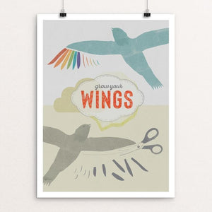"Grow Your Wings by Liza Donovan 12"" by 16"" Print / Unframed Print Creative Action Network"