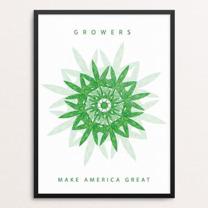 "Growers by Holly Savas 12"" by 16"" Print / Framed Print What Makes America Great"