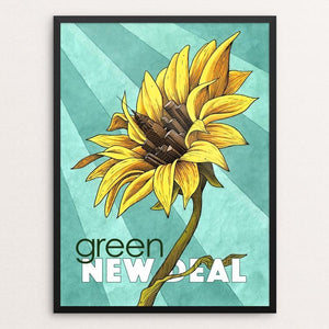 "Growing Together by James McInvale 12"" by 16"" Print / Framed Print Green New Deal"