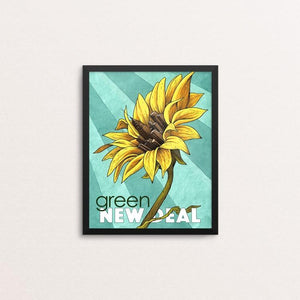 "Growing Together by James McInvale 8"" by 10"" Print / Framed Print Green New Deal"