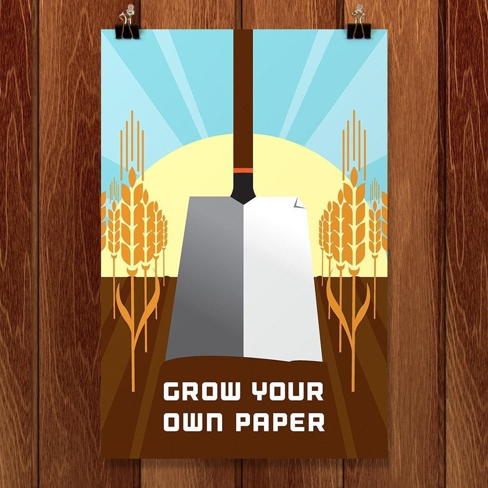 "Grown Your Own Paper by Eric Benson 12"" by 18"" Print / Unframed Print Climate Victory"