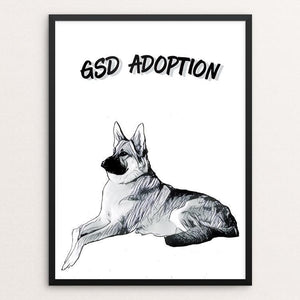 "GSD Adoption by Bryan Bromstrup 12"" by 16"" Print / Framed Print Creative Action Network"