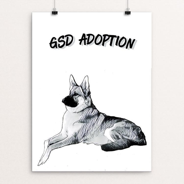 "GSD Adoption by Bryan Bromstrup 12"" by 16"" Print / Unframed Print Creative Action Network"