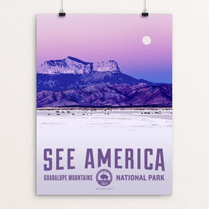 "Guadalupe Mountains National Park by Aaron Bates 12"" by 16"" Print / Unframed Print See America"