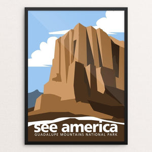"Guadalupe Mountains National Park by George Jaramillo 12"" by 16"" Print / Framed Print See America"