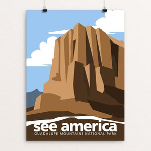 "Guadalupe Mountains National Park by George Jaramillo 12"" by 16"" Print / Unframed Print See America"