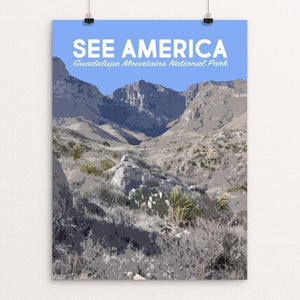 "Guadalupe Mountains National Park by Mary Stasilli 12"" by 16"" Print / Unframed Print See America"