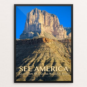 "Guadalupe Mountains National Park by Zack Frank 12"" by 16"" Print / Framed Print See America"