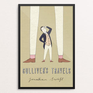 "Gulliver's Travels by Naomi Sloman 12"" by 18"" Print / Framed Print Recovering the Classics"