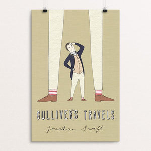 "Gulliver's Travels by Naomi Sloman 12"" by 18"" Print / Unframed Print Recovering the Classics"