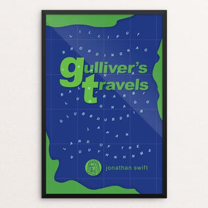 "Gulliver's Travels by Robert Wallman 12"" by 18"" Print / Framed Print Recovering the Classics"