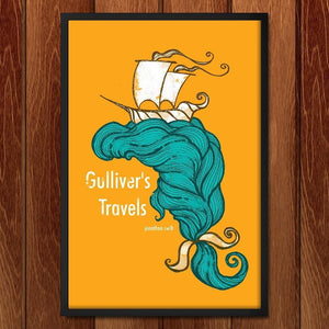 "Gulliver's Travels by Roberto Lanznaster 12"" by 18"" Print / Framed Print Recovering the Classics"
