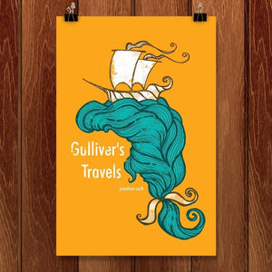 "Gulliver's Travels by Roberto Lanznaster 12"" by 18"" Print / Unframed Print Recovering the Classics"