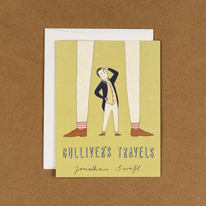 Gulliver's Travels Notecard by Naomi Sloman 4.25x5.5 inch Notecard Recovering the Classics