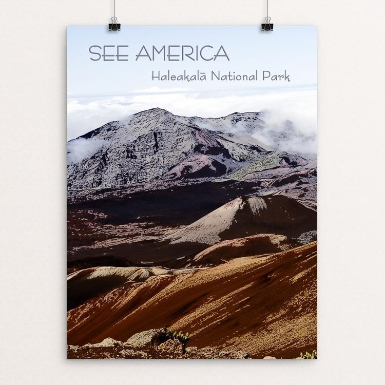 "Haleakal€� National Park by Marcia Brandes 12"" by 16"" Print / Unframed Print See America"