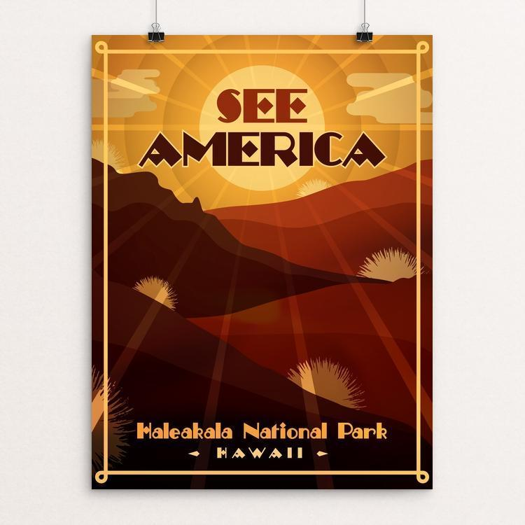 "Haleakal€� National Park by Roberlan Borges 12"" by 16"" Print / Unframed Print See America"