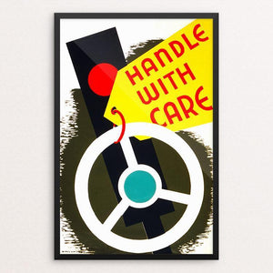 "Handle with care 12"" by 18"" Print / Framed Print WPA Federal Art Project"