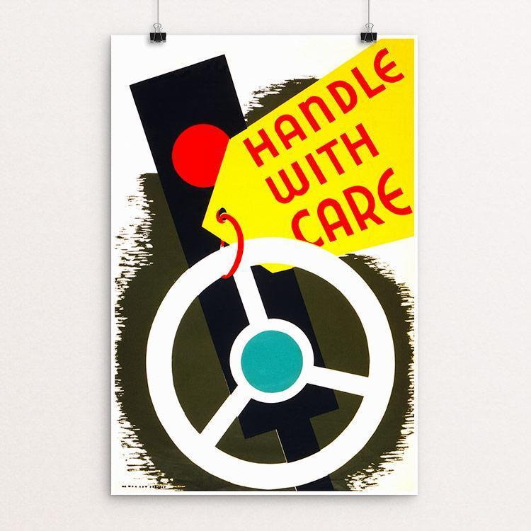 "Handle with care 12"" by 18"" Print / Unframed Print WPA Federal Art Project"
