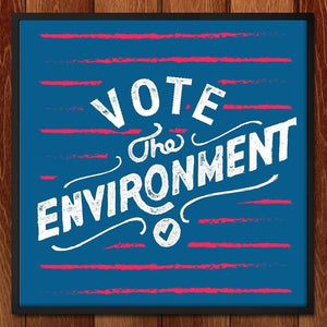 "Handlettered Vote Print by Christian Robinson 12"" by 12"" Print / Framed Print Vote the Environment"