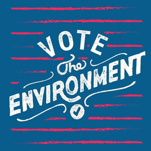 "Handlettered Vote Print by Christian Robinson 12"" by 12"" Print / Unframed Print Vote the Environment"