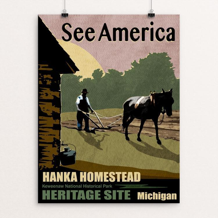 "Hanka Homestead by Mike Stockwell 12"" by 16"" Print / Unframed Print See America"