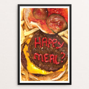 "Happy Meal? by Andrew Althage 12"" by 18"" Print / Framed Print Power to the Poster"