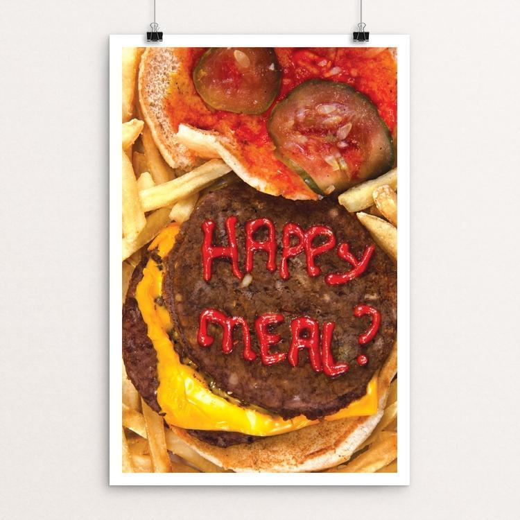 "Happy Meal? by Andrew Althage 12"" by 18"" Print / Unframed Print Power to the Poster"