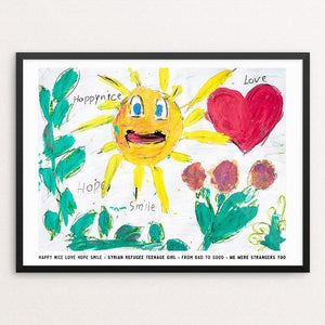 "Happy Nice Love Hope Smile by David Gross 12"" by 16"" Print / Framed Print We Were Strangers Too"