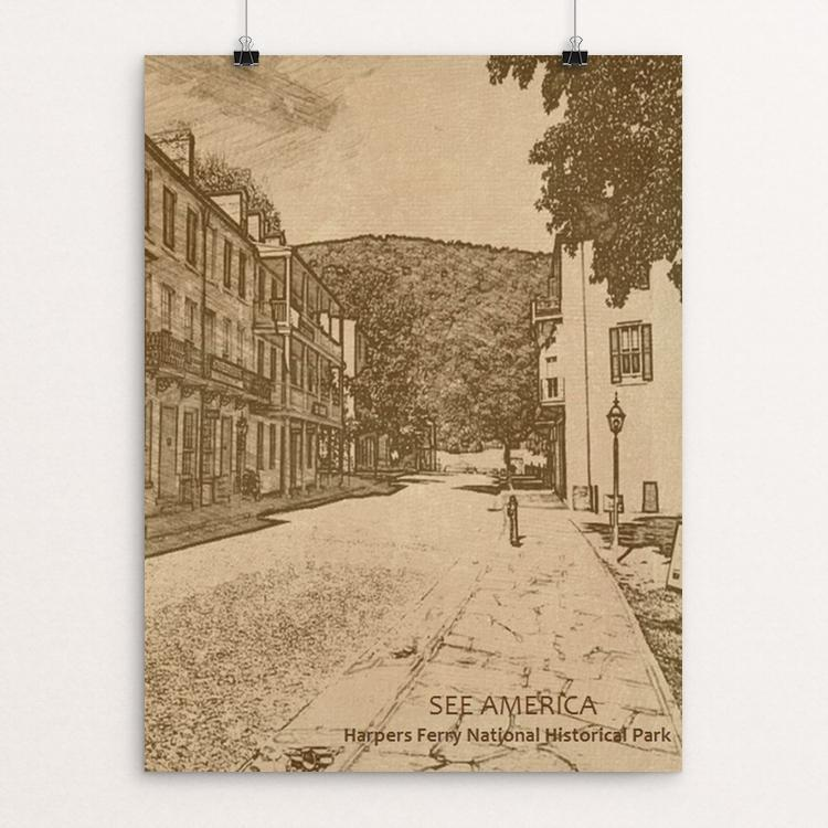 "Harpers Ferry National Historical Park 1 by Bryan Bromstrup 18"" by 24"" Print / Unframed Print See America"